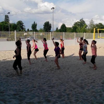 15 juin 2015  Les pieds das sable ZUMBA